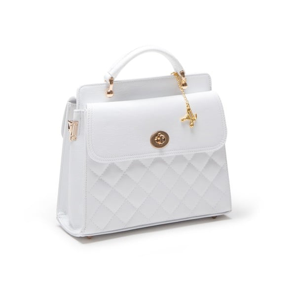 Kabelka Quilted Bianco