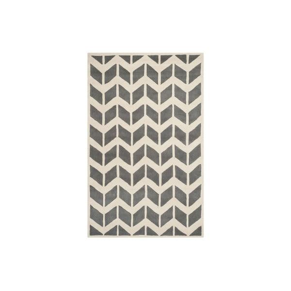 Vlnený koberec Safavieh Brenna, 152x243 cm, sivý