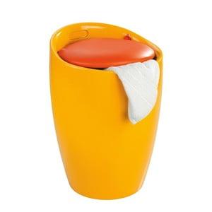 Žltý kôš na bielizeň a taburetka v jednom Wenko Candy, 20 l