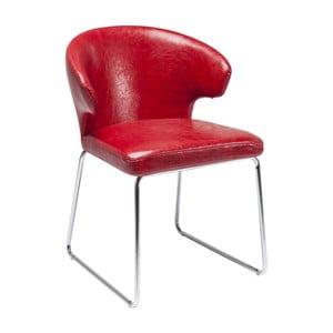 Sada 2 červených jedálenských stoličiek Kare Design Atomic