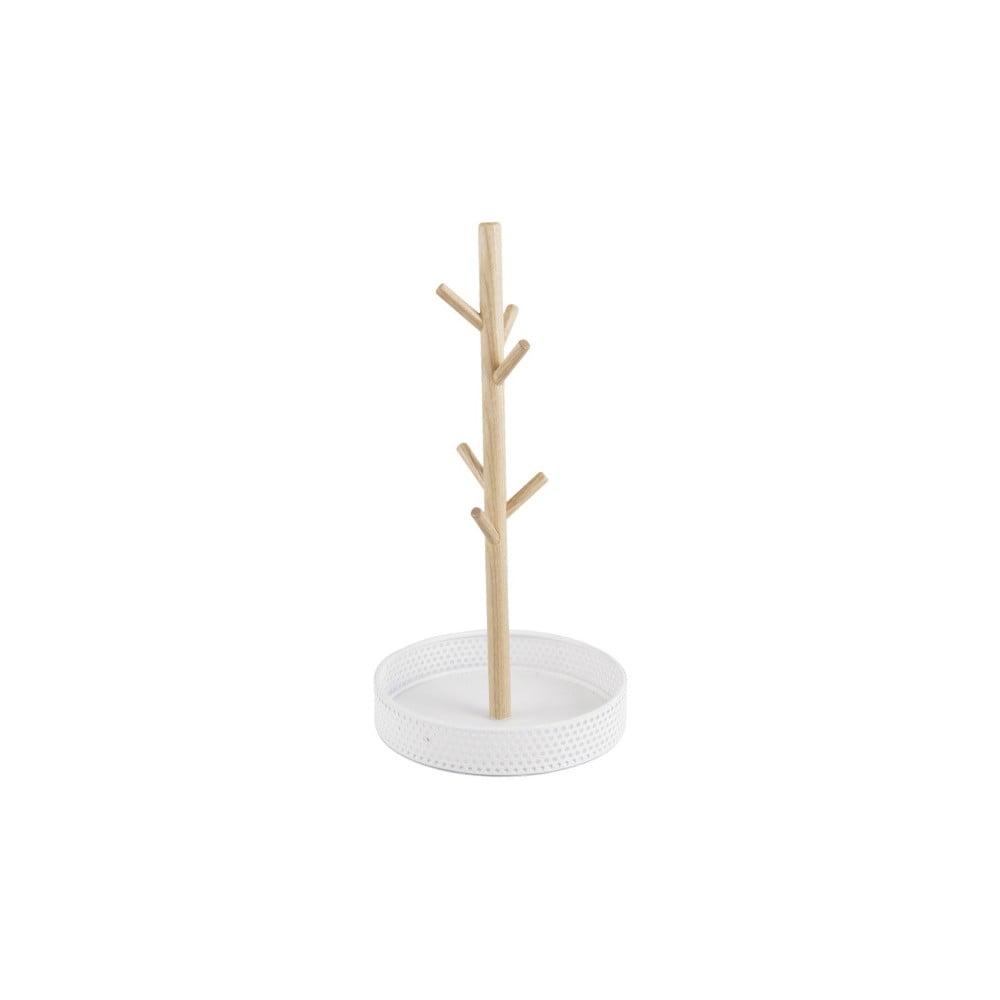 Drevený stojan s bielou miskou na šperky PT LIVING Merge