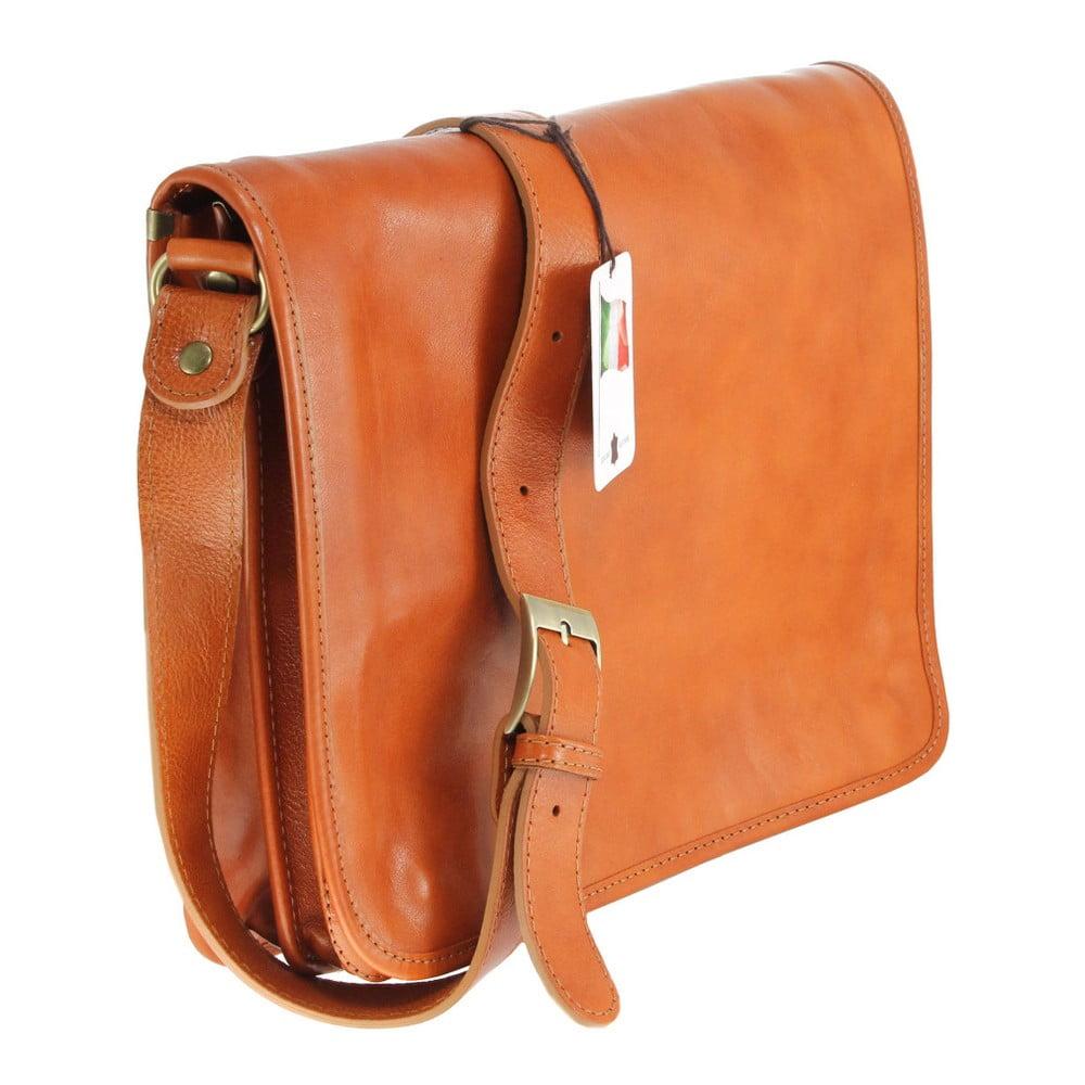 7fa6d505d Koňakovohnedá kožená taška Chicca Borse Norma | Bonami