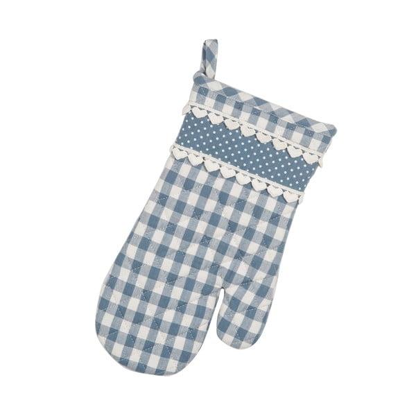 Kuchynská rukavica Basic Hearts, modrá