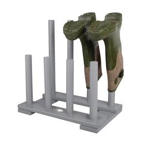 Sivý stojan na 4 páry topánok z borovicového dreva Esschert Design