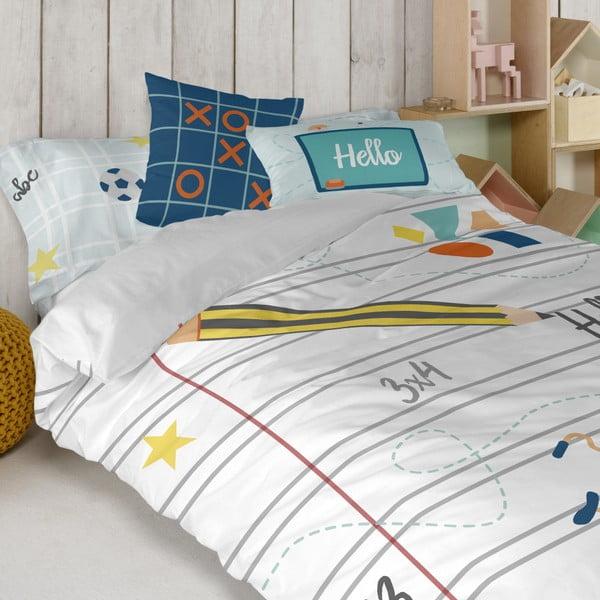 Detské obliečky z čistej bavlny Happynois Notebook, 140×200 cm
