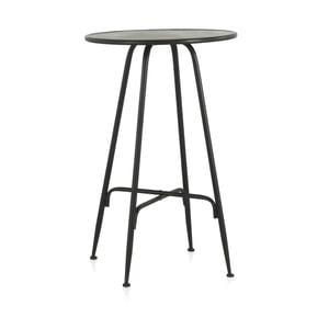 Čierny kovový barový stolík Geese Industrial Style, výška 100 cm