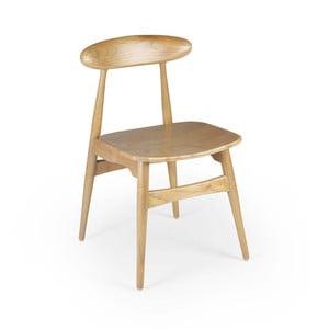 Sivá jedálenská stolička z dreva Sungkai Moycor Buffalo