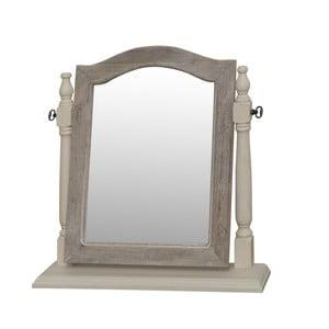 Zrkadlo v krémovom ráme z topoľového dreva Livin Hill Pesaro
