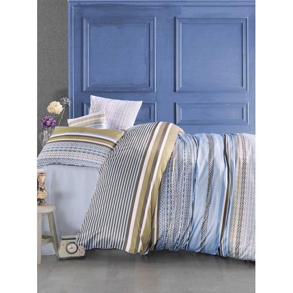 Obliečky s prestieradlom Newline Blue, 200 x 220 cm