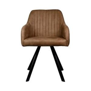Hnedá jedálenská stolička LABEL51 Floor