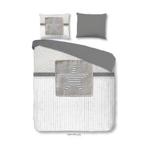 Bavlnené obliečky na dvojlôžko Good Morning Riv Grey, 200×240 cm