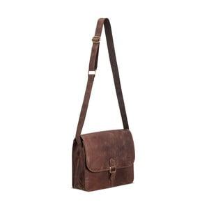 Hnedá kožená taška cez rameno Packenger Aslang