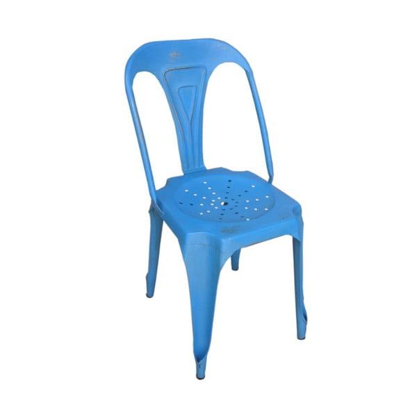 Kovová stolička Chaise Bleu