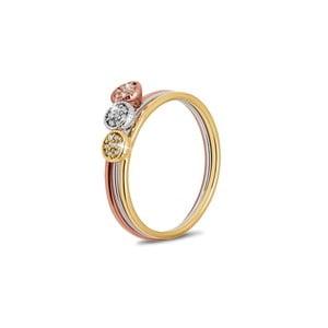 Sada 3 prsteňov s krištáľmi Swarovski ® GemSeller, veľ. 52