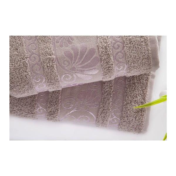Sada uteráka a osušky Carmen Light Lilac, 50x90 a 70x140 cm