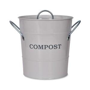 Svetlosivý kompostér s vrchnákom Garden Trading Compost, 3,5 l