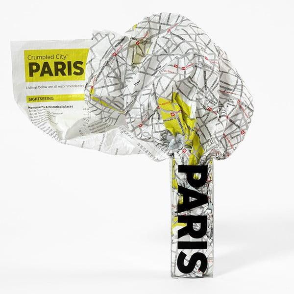 Pokrčená cestovná mapa Palomar Paríž