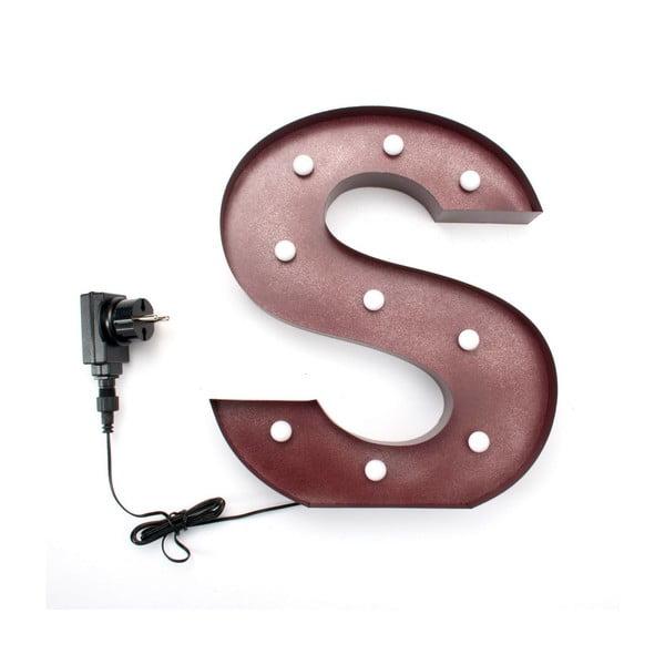Svetelná LED dekorácia Letter S