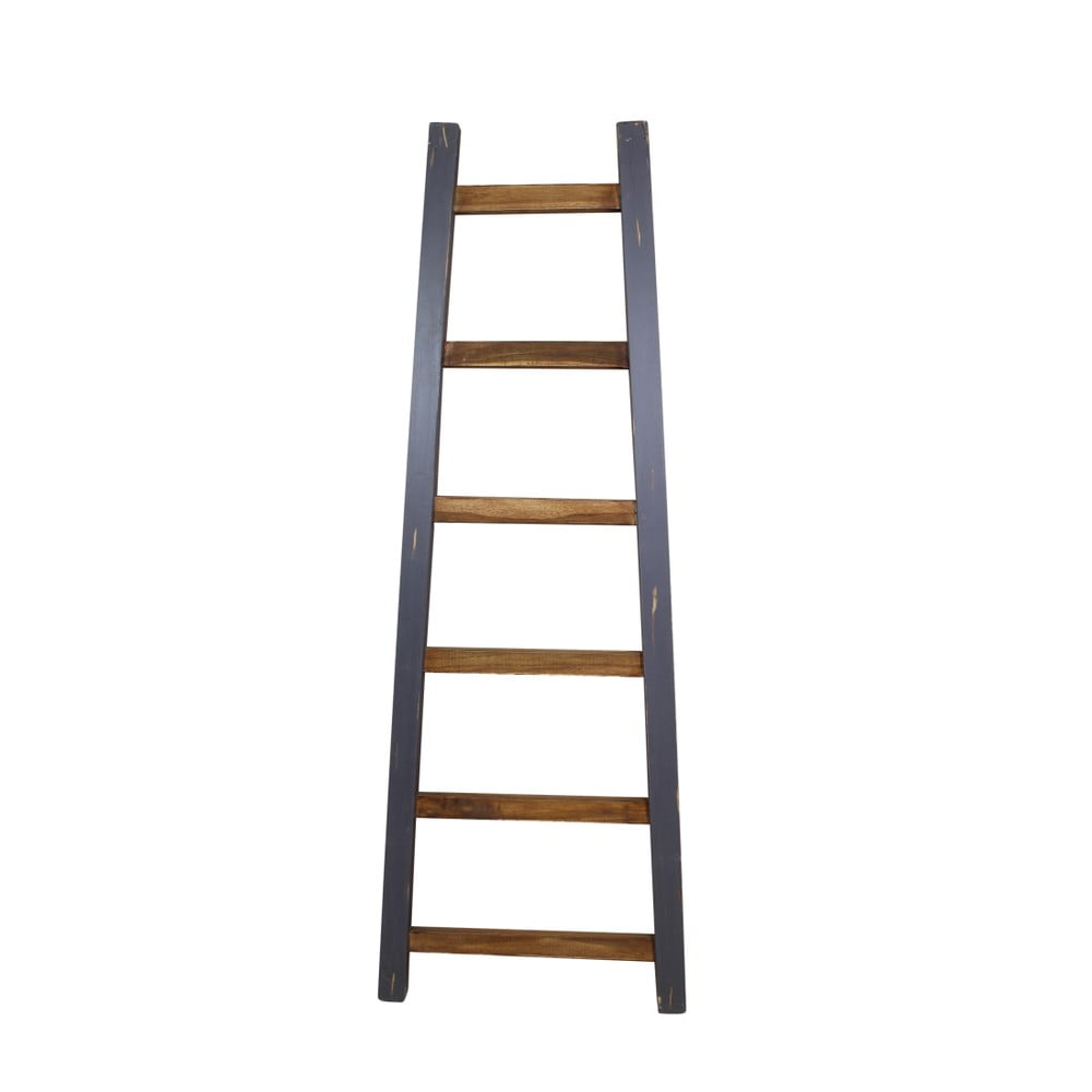 Sivý dekoratívny rebrík z teakového dreva HSM Collection Tangga, dĺžka 150 cm