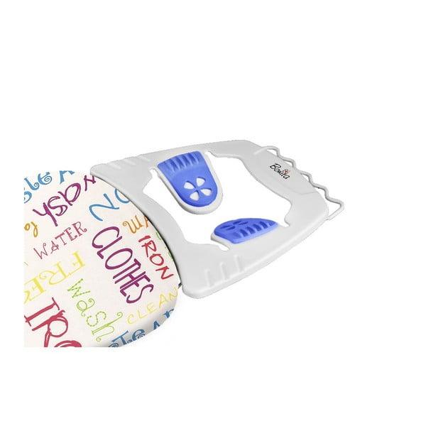 Žehliaca doska s modrými protišmykovými nožičkami Domopak Joy Words