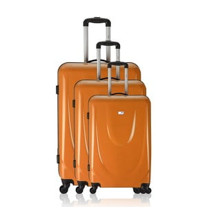 Sada 3 kufrov Integre Full Orange, 114 l/75 l/46 l