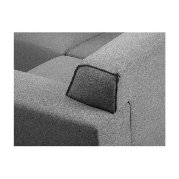 Sivá rohová štvormiestna pohovka Cosmopolitan Design Seville, levý roh