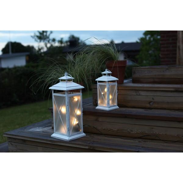 LED lampáš Stallis, výška 30 cm, biely