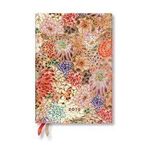 Diár na rok 2019 Paperblanks Kikka Horizontal, 13 x 18 cm