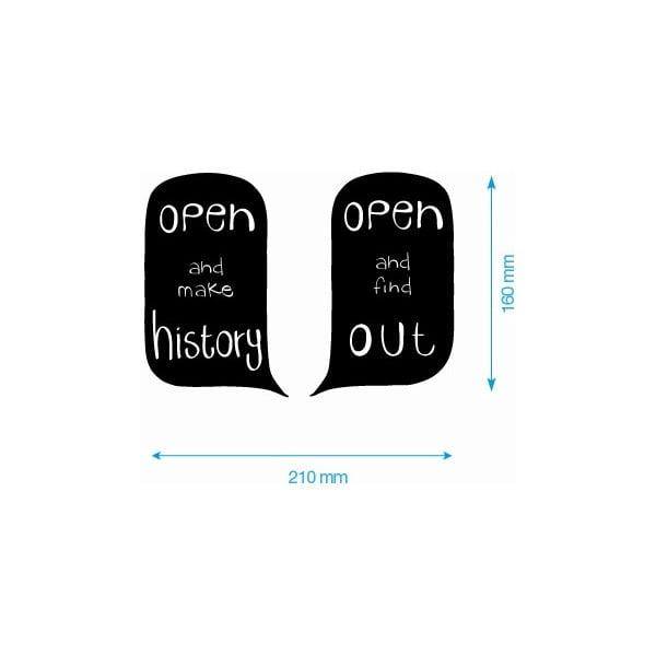 Set samolepiek Open Door Sign