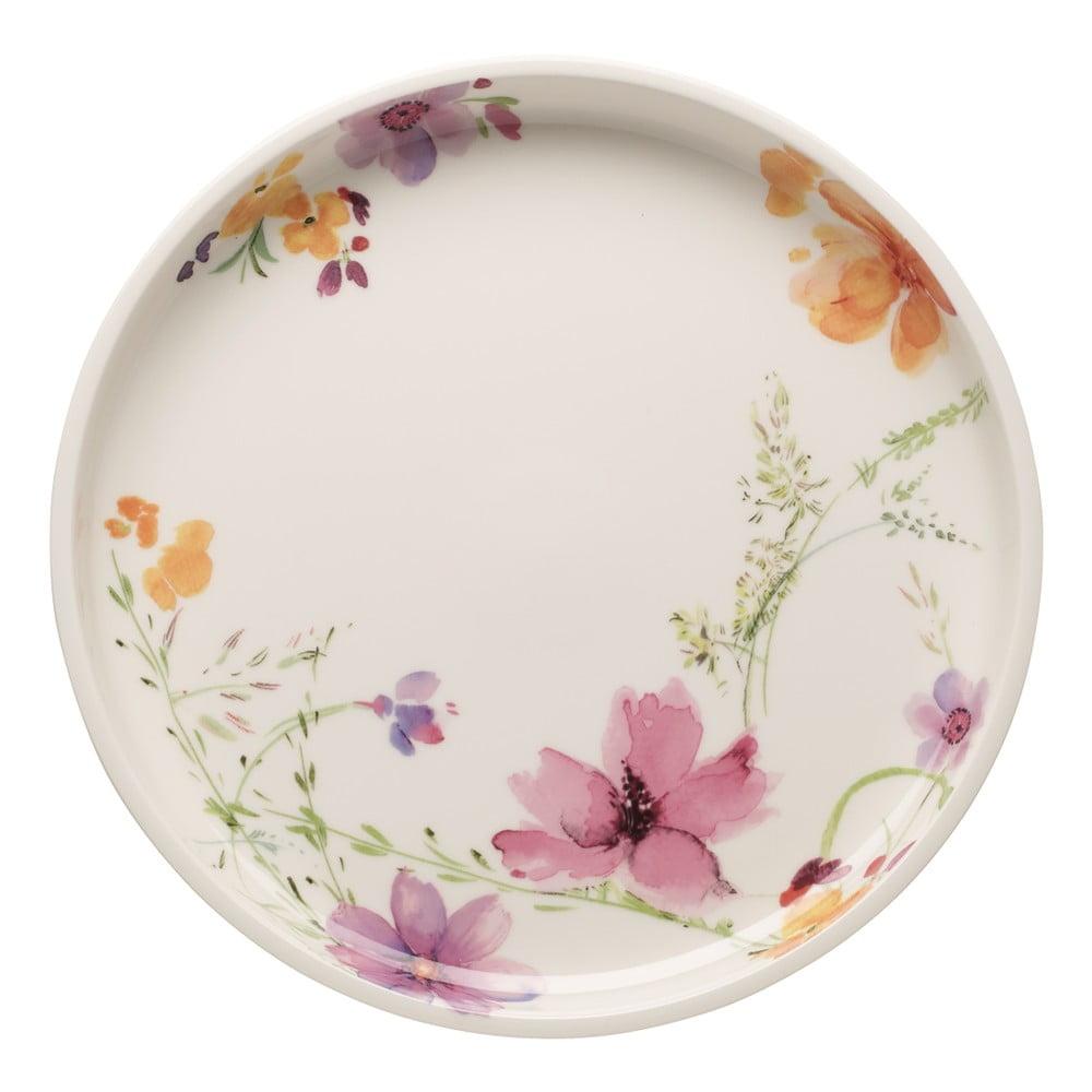 Servírovací porcelánový tanier s kvetinovými motívmi Villeroy & Boch Mariefleur, 30 cm