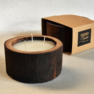 Palmová sviečka Legno Cera s vôňou vanilky a pačuli, 40 hodín horenia