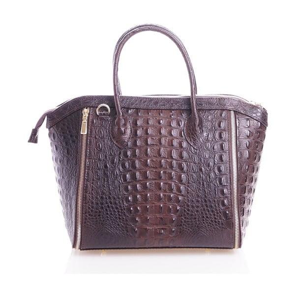 Kožená kabelka Marina, hnedá