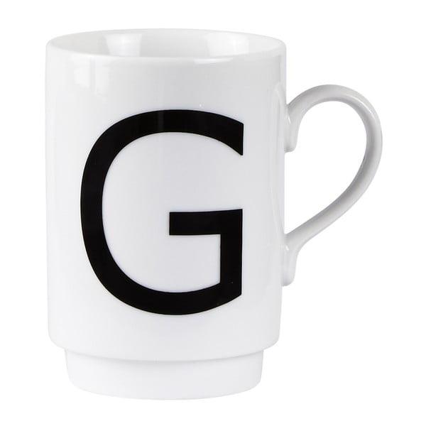 Porcelánový písmenkový hrnček G