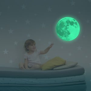 V tme svietiaca samolepka Mesiac