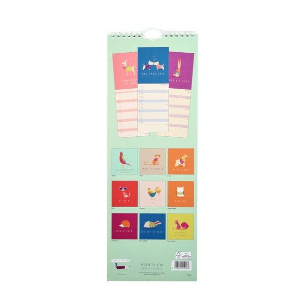Úzký kalendár Portico Designs Call Me Frank