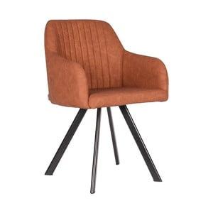 Koňakovo-hnedá jedálenská stolička LABEL51 Floor