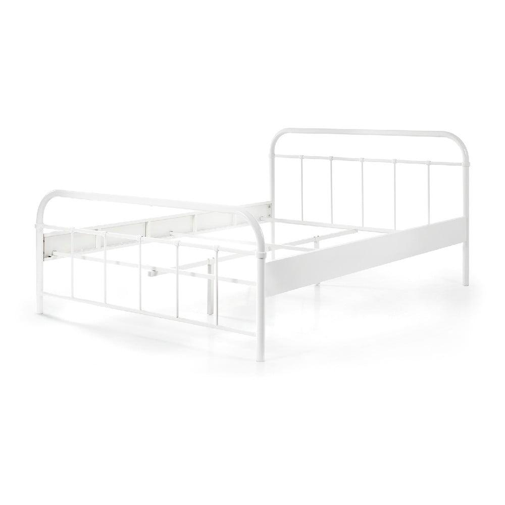 Biela kovová detská posteľ Vipack Boston Baby, 140 × 200 cm