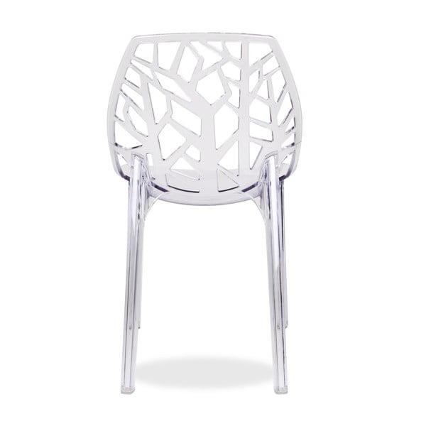 Stolička Polycarbonate White