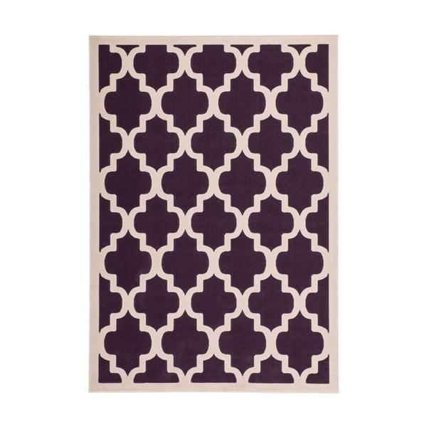 Fialovo-biely koberec Kayoom Maroc 2087 Lila, 80x150cm