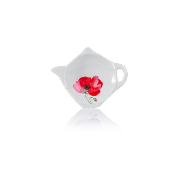 Porcelánová mištička na čajové vrecúška Sabichi Poppy