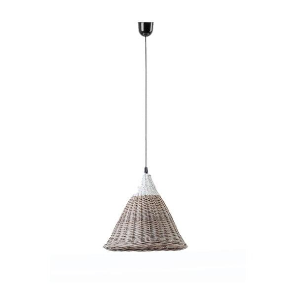 Stropné svetlo Kapi, 27x24 cm, hnedo-biele