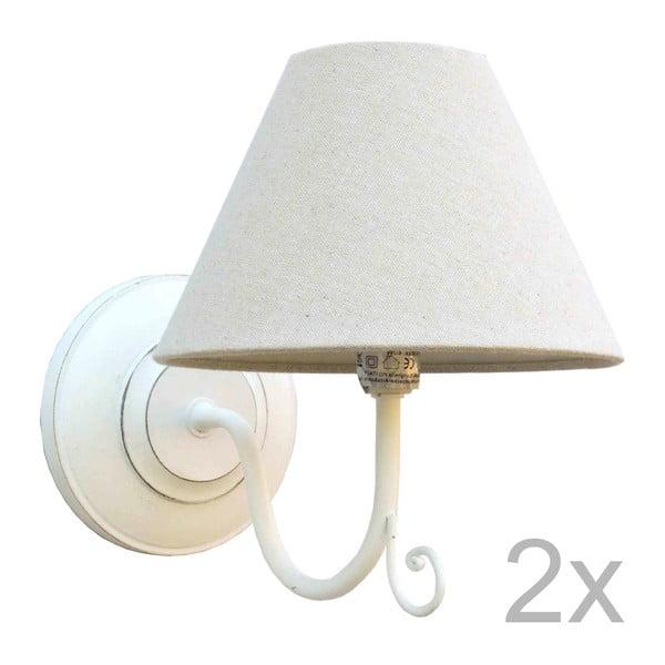 Sada dvoch bielych nástenných svetiel Bolzonella