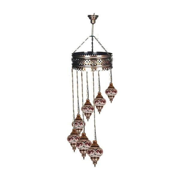 Sklenená ručne vyrobená závesná lampa Dan, ⌀ 15 cm