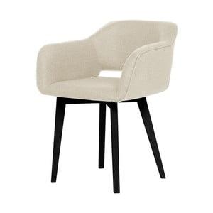 Krémová jedálenská stolička s čiernymi nohami My Pop Design Oldenburg