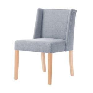 Sivá stolička s hnedými nohami Ted Lapidus Maison Zeste