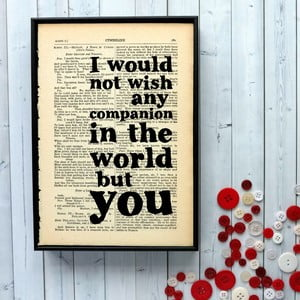 Plagát v drevenom ráme Shakespeare Companion