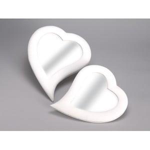 Set 2 zrkadiel Heart, 32x40 cm