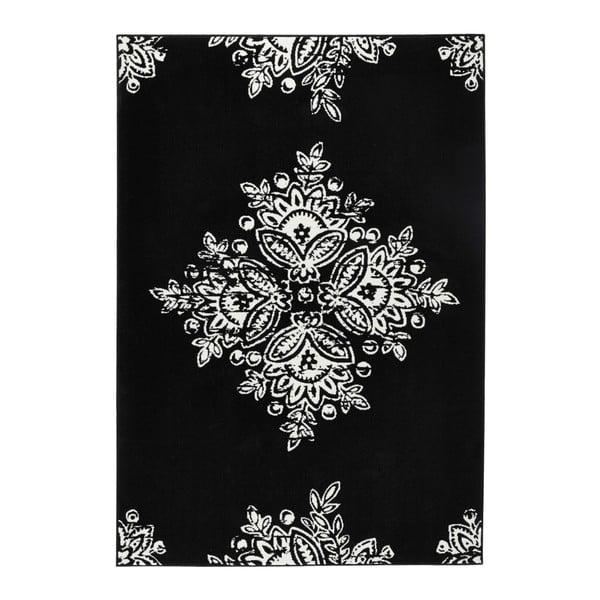 Čierno-biely koberec Hanse Home Gloria Blossom, 160 x 230 cm