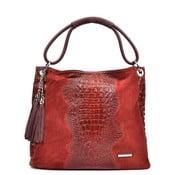 Červená kožená kabelka Luisa Vannino Marsala