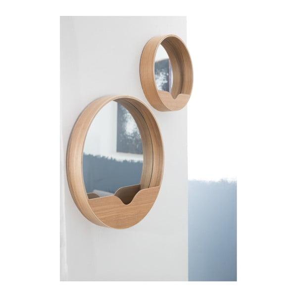 Zrkadlo s odkladacím priestorom Zuiver Round Wall, 40 cm